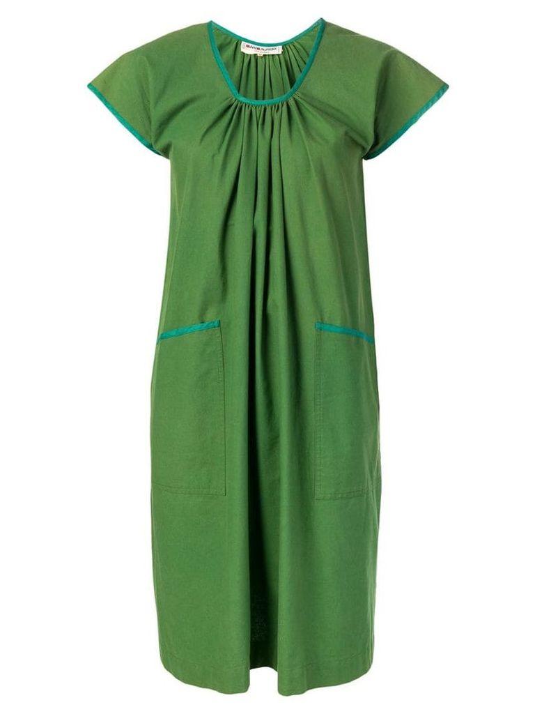 Yves Saint Laurent Vintage short-sleeve flared dress - Green