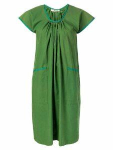 Yves Saint Laurent Pre-Owned short-sleeve flared dress - Green