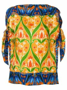 Prada Pre-Owned floral print blouse - Blue