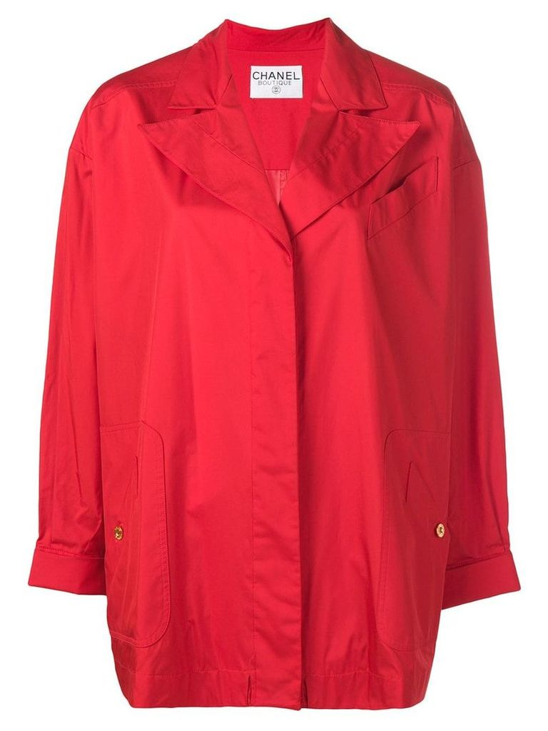 Chanel Vintage concealed fastening midi coat - Red
