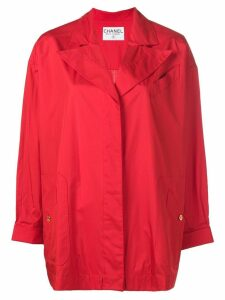 Chanel Pre-Owned concealed fastening midi coat - Red