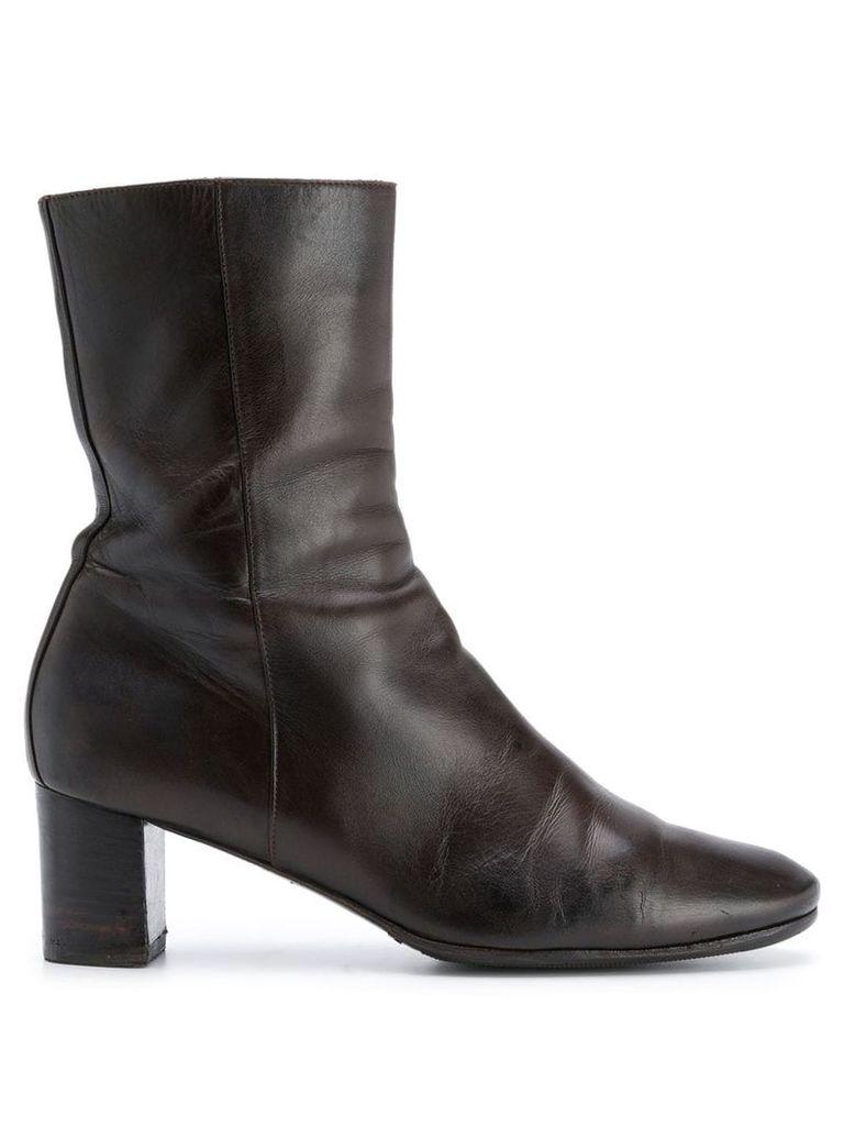 Hermès Vintage 2000's mid-calf boots - Brown