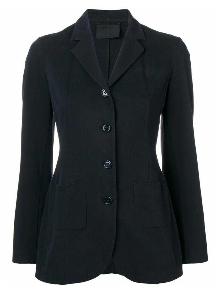 Prada Vintage single breasted blazer - Blue