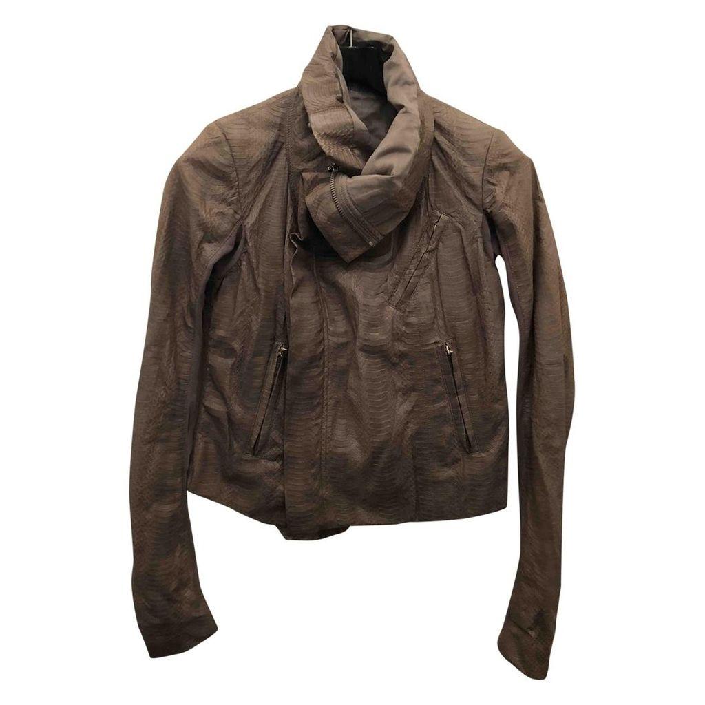Python biker jacket