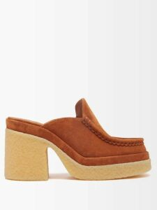 Osman - Henra Star Print Silk Crepe Tiered Midi Dress - Womens - Green Print