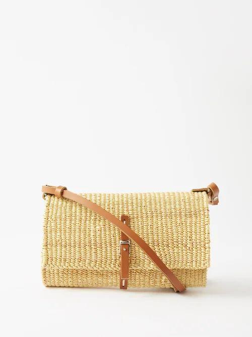Osman - Sunny Asymmetric Tiered Cotton Blouse - Womens - White Stripe