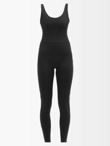 Osman - Olesia Faux Leather Midi Dress - Womens - Dark Green