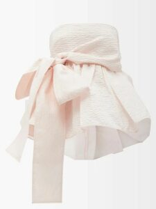Wales Bonner - Crystal Embellished Cotton Blend Coat - Womens - Beige