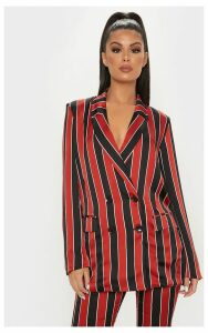 Red Stripe Blazer, Red
