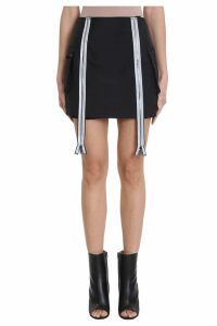 Maison Margiela Zipped Black Nylon Skirt