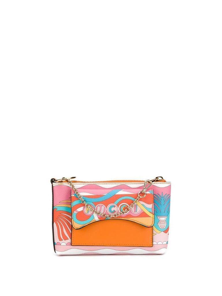 Emilio Pucci La Villa Print Micro Shoulder Bag - Pink