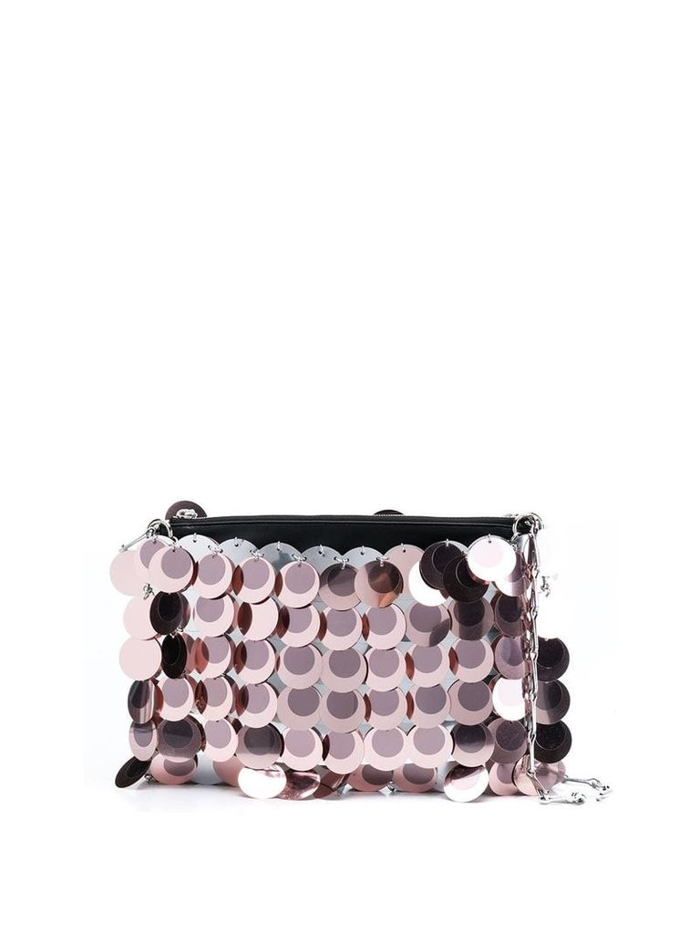 Paco Rabanne sequin clutch bag - Pink