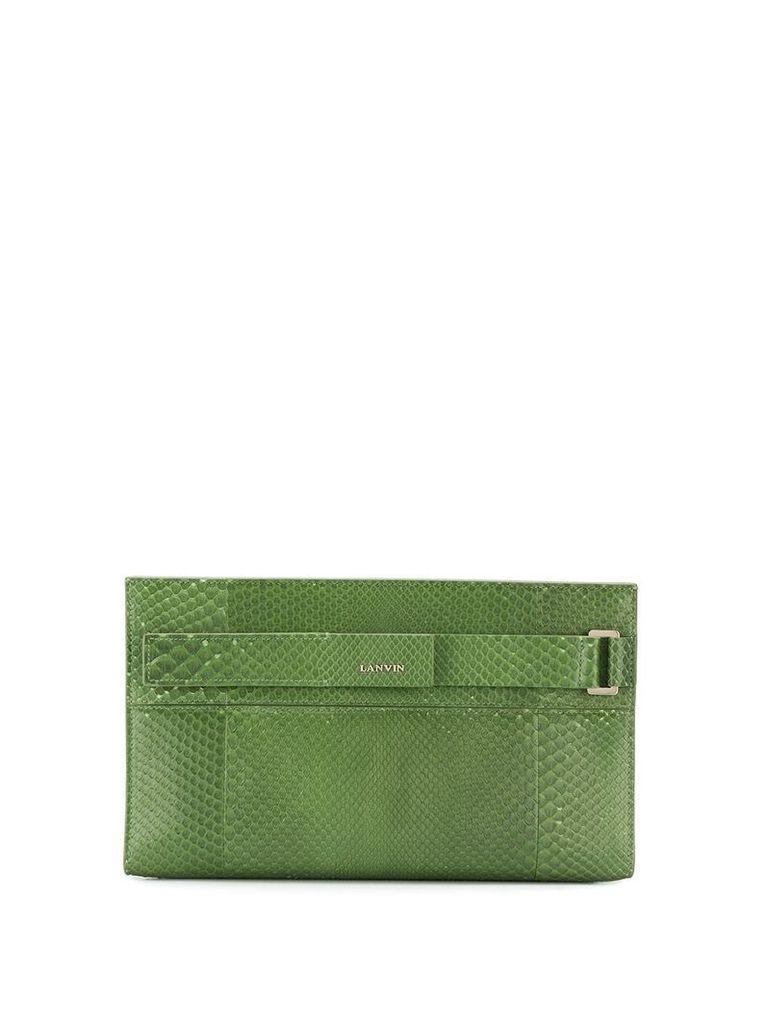 Lanvin Réglisse clutch - Green
