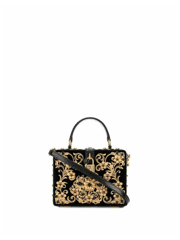 Dolce & Gabbana Velvet Dolce box bag - Black