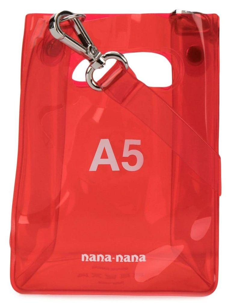 Nana-Nana A5 tote bag - Red