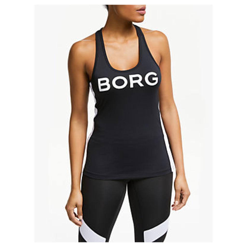 Björn Borg LA Stripe Training Vest Top, Black/White
