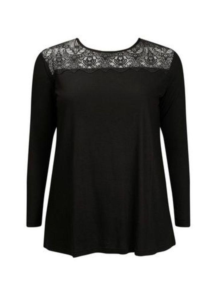 Black Lace Top, Black