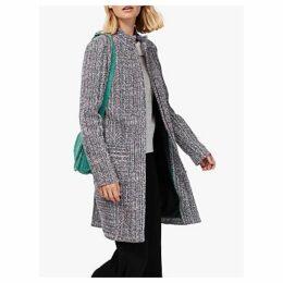 Brora Spring Tweed Coat, Anthracite