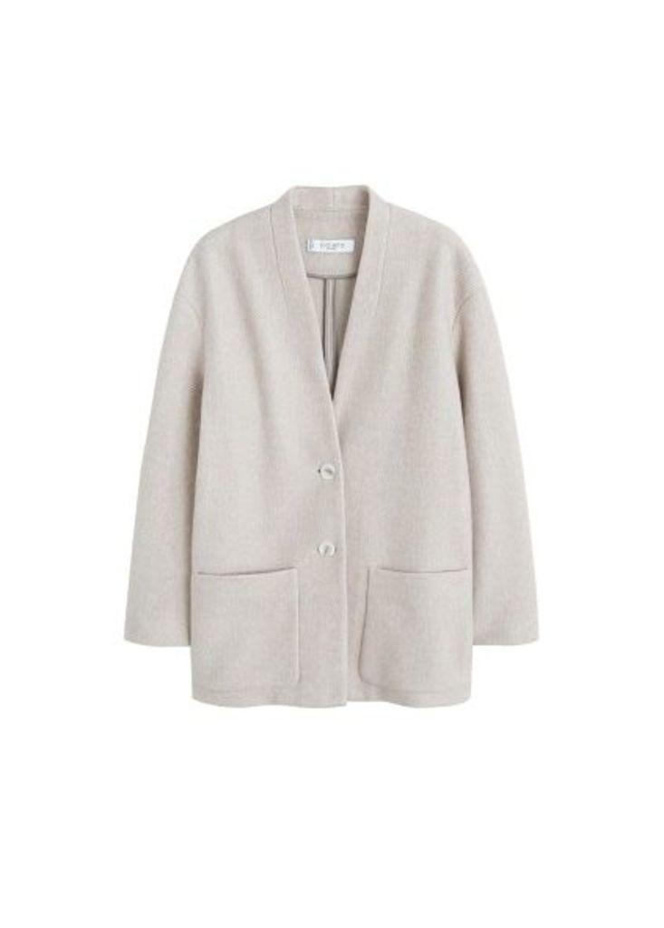 Unstructured cotton blazer