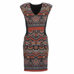 Desigual  DUNIA  women's Dress in Multicolour