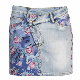 Desigual  ROSES  women's Skirt in Blue