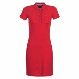 Tommy Hilfiger  NEW CHIARA STR PQ DRS  women's Dress in Red