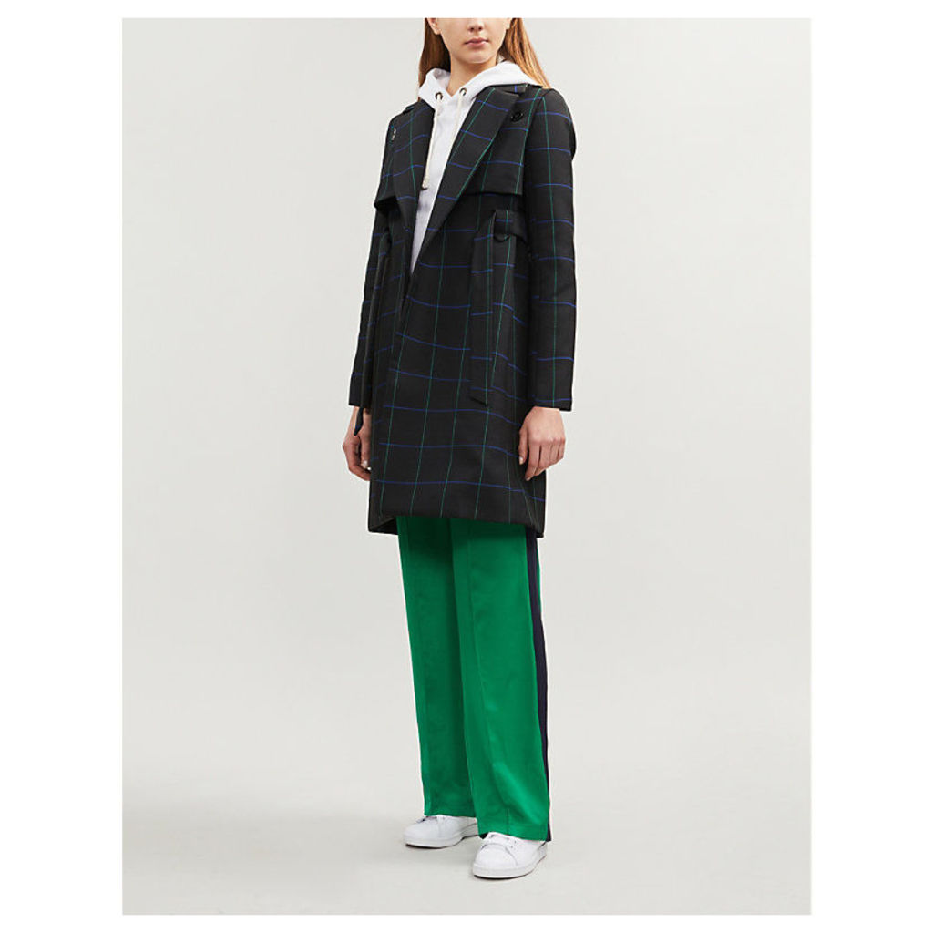 Gangster check woven coat