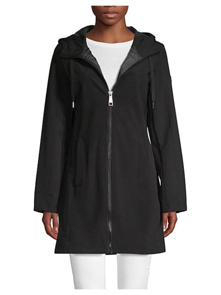 Zip-Up Hooded Coat