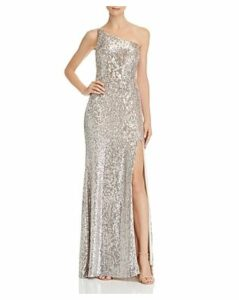Avery G One-Shoulder Sequin Gown