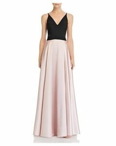 Avery G Color-Block Gown