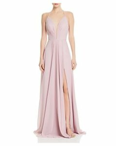 Faviana Couture Illusion Plunge Gown