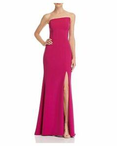 Aqua Asymmetric Strapless Gown - 100% Exclusive