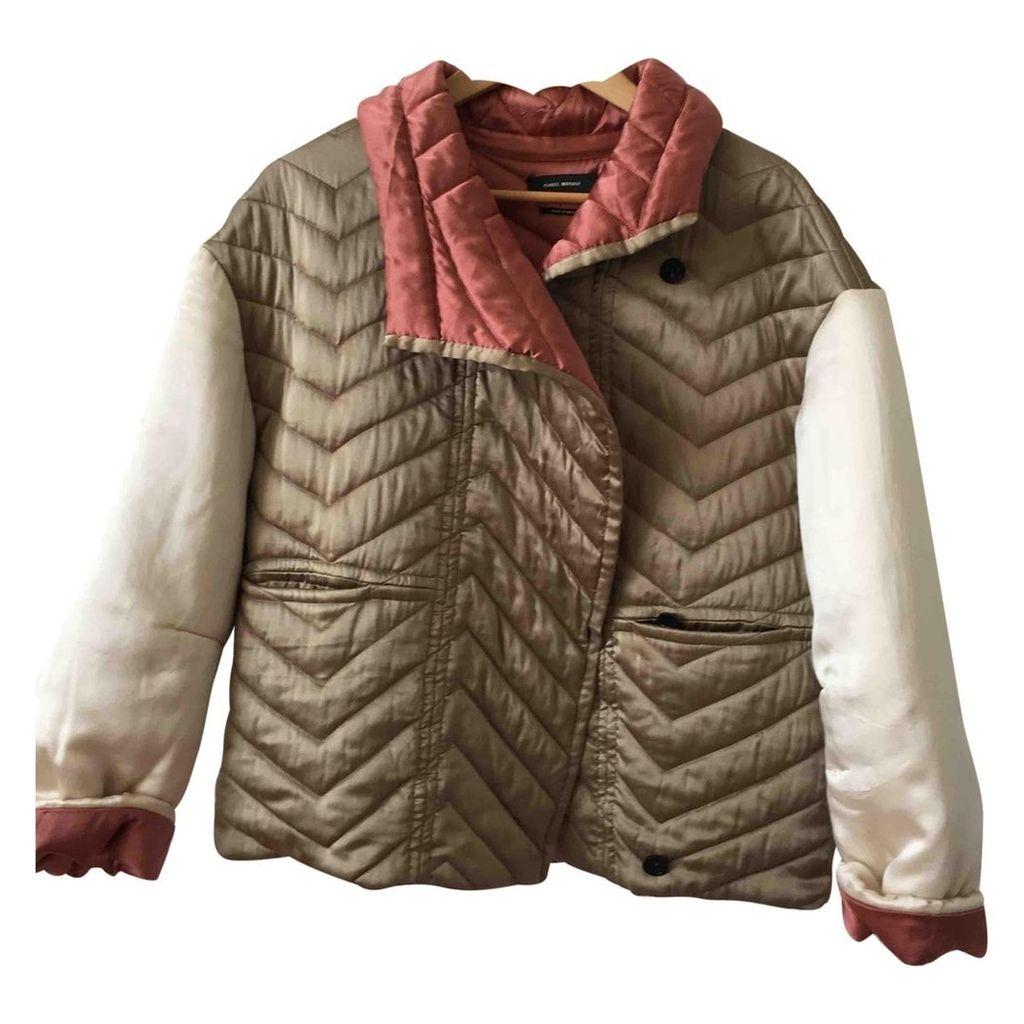 Silk biker jacket