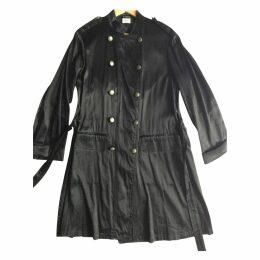 Black Silk Trench coat