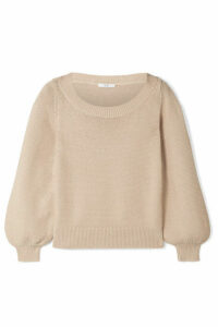 Co - Silk And Cotton-blend Sweater - Beige