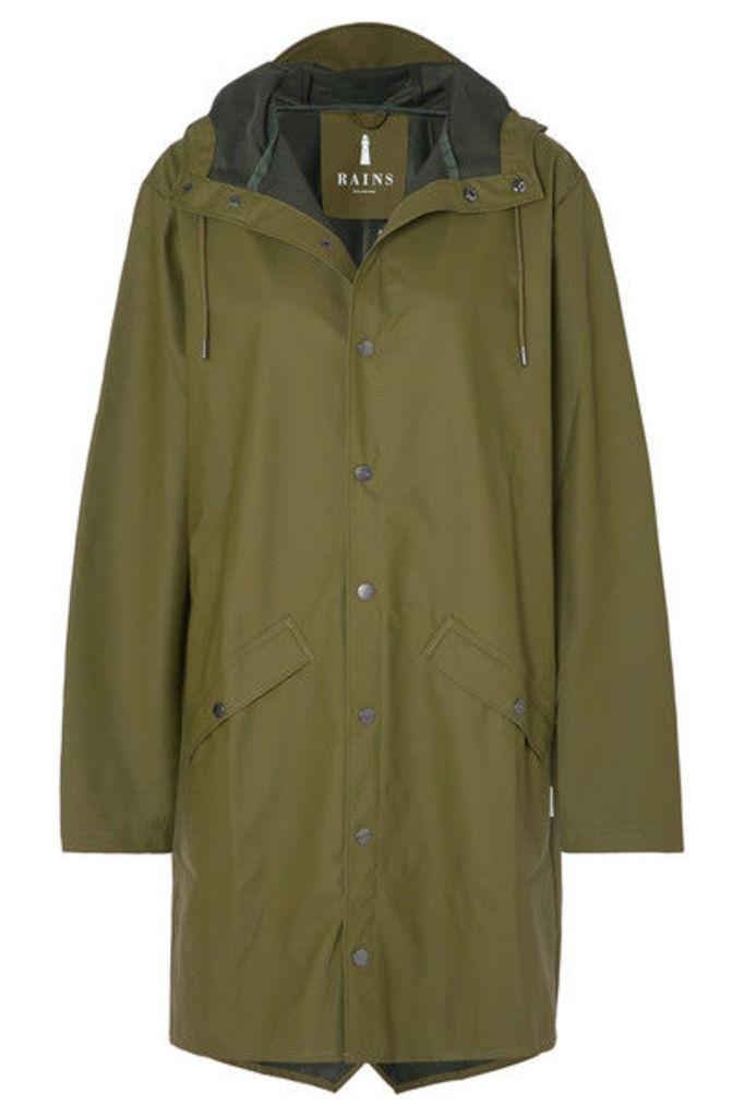 Rains - Hooded Matte-pu Raincoat - Green