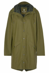 Rains - Hooded Matte-pu Raincoat - Green