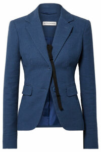 Altuzarra - Salerno Grosgrain-trimmed Slub Cotton-blend Blazer - Blue