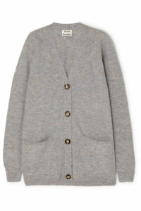 Acne Studios - Kaya Mélange Ribbed-knit Cardigan - Gray