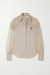 Costarellos - Ruffled Pleated Floral-print Chiffon Maxi Dress - Sky blue