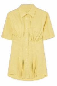 Isabel Marant - Gramy Pleated Cotton-poplin Shirt - Pastel yellow
