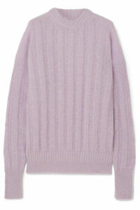 Cecilie Bahnsen - Ribbed Wool-blend Sweater - Lavender