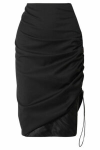Commission - Ruched Twill Skirt - Black