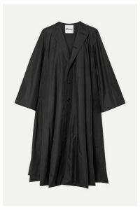 Noir Kei Ninomiya - Oversized Taffeta Coat - Black
