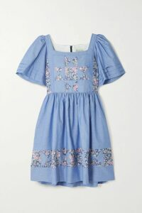 Adam Lippes - Pleated Silk-satin Midi Dress - Plum