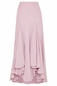 Giorgio Armani - Waterfall Ruffled Asymmetric Silk-crepe Skirt - Pink