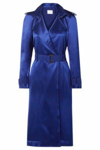 Dion Lee - Belted Cutout Mulberry Silk-satin Dress - Royal blue