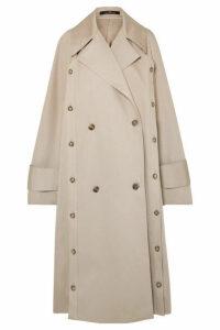 Rokh - Oversized Convertible Cotton-gabardine Trench Coat - Beige