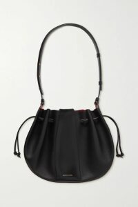 Thom Browne - Striped Grosgrain-trimmed Pleated Merino Wool Dress - Navy