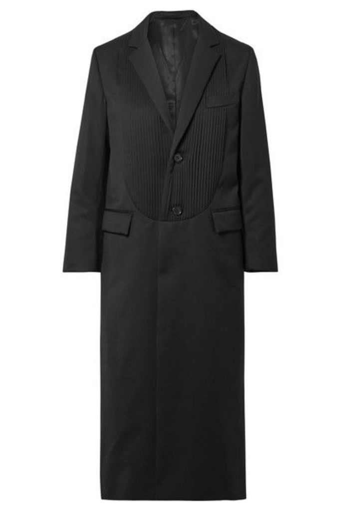 Noir Kei Ninomiya - Pintucked Wool-gabardine Coat - Black